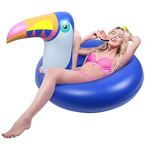 QMQ Inflatable Float Raft Swimming Pool Party Water Float for Adult and Kid- Tropical -