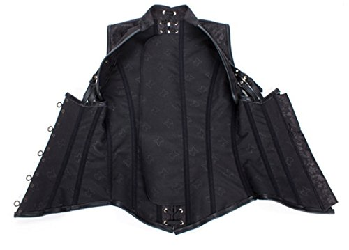 Corsetto Brown Gotici A Top Sleeveless Sexy Vaporcorsetto Punk Costume AqwY7WF