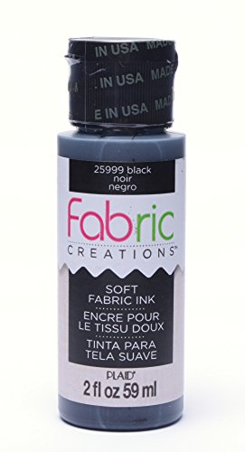 Fabric Creations Fabric Ink in Assorted Colors (2-Ounce), 25999 Black