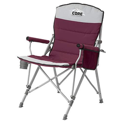 CORE Equipment Folding Padded Hard Arm Chair (Wine) ()