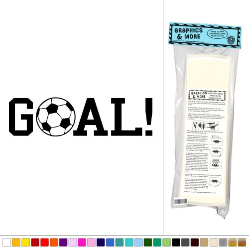 Graphics and More Goal! Sports Soccer Ball - Vinyl Sticker Decal Wall Art Decor - Black