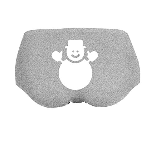 (Lovely Xmas Snowman Clipart Brief Panties Underwea Girl's Low-Waist Stretch)