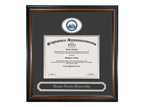 Signature Announcements Ohio-Christian-University Undergraduate, Graduate/Professional/Doctor Sculpted Foil Seal & Name Diploma Frame, 16'' x 16'', Matte Mahogany by Signature Announcements