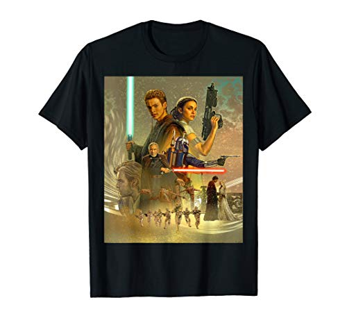 - Star Wars Celebration Mural Attack of the Clones T-Shirt