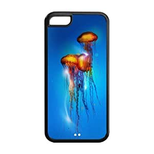 LJF phone case Custom Jellyfish Design TPU Case Protector For Iphone 5C