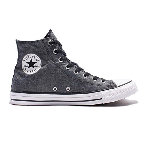 Converse - Converse CTAS HI chambray Black/White/Black Chuck Taylor All Star HI Schuhe Chucks Schuhe Herren Damen 36,5 (UK 4)