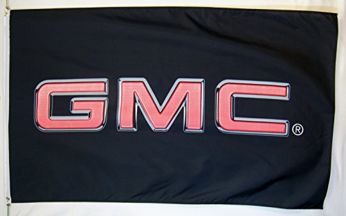 GMC Automotive Logo Flag 3' X 5' Indoor Outdoor Banner ()