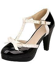BeiaMina Women Sweet Cone Heels Sandals