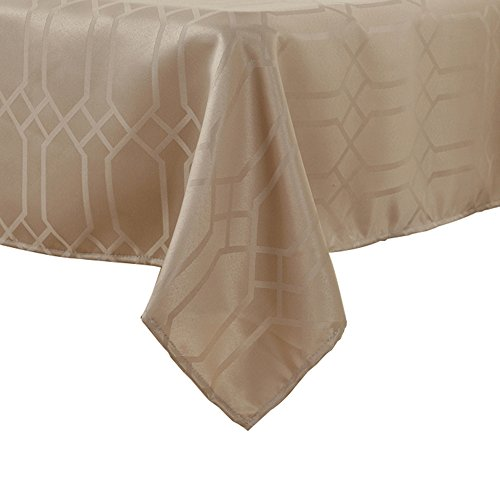 Rhap Table Cloth, Tablecloth for Rectangle Table Tabletop Decor for Kitchen Dining, 60×84inch Gold Waterproof Dust-proof Table Cover