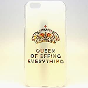 QHY Queen's Crown Pattern Hard PC Cover for iPhone 6