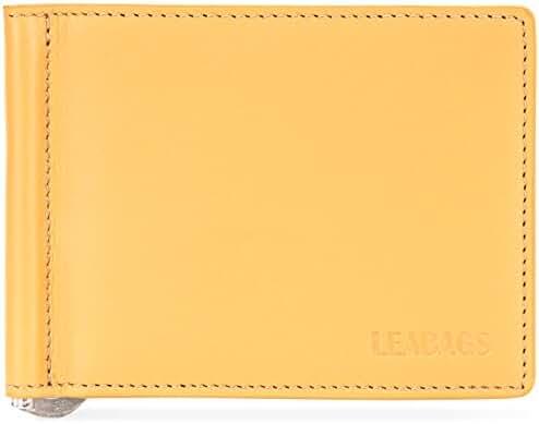 LEABAGS Scranton genuine calfskin leather wallet in vintage style