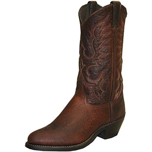 - Abilene Men's Bison Leather Cowboy Boot Medium Toe Brown 11.5 D(M) US