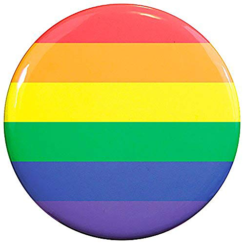 (Buttonsmith Rainbow Flag 2.25