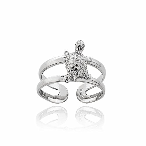Hoops & Loops Sterling Silver Turtle Toe Ring by Hoops & Loops