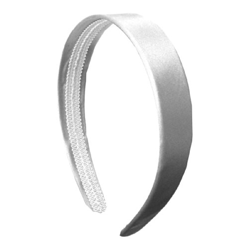 White 1 Inch Satin Hard Headband]()