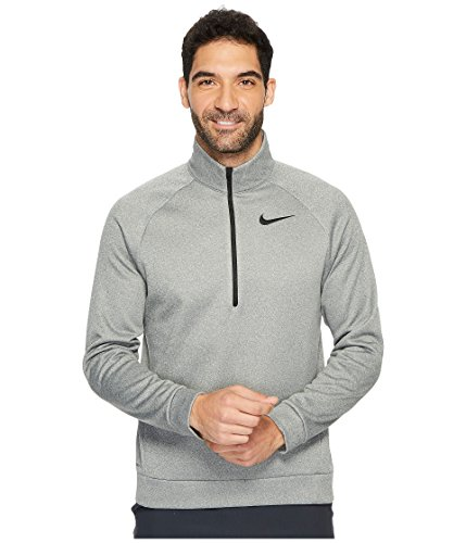 - Nike Men's Therma Training Top Carbon Heather/Black Small