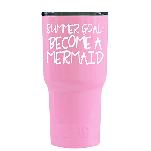 RTIC Summer Goal Become a Mermaid on Pretty Pink 20 oz Stain