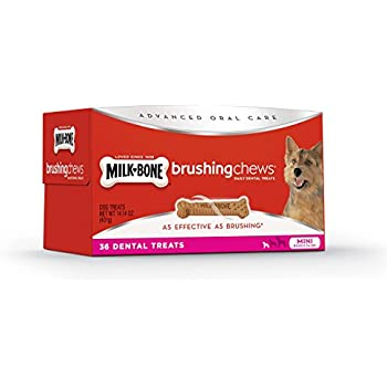 Milk-Bone Brushing Chews Daily Dental Mini Dog Treats Value Pack, 36 count 14.14 Ounce