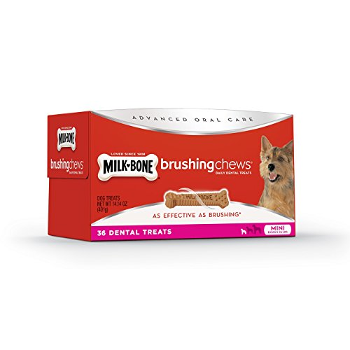 Treat Value Pack (Milk-Bone Brushing Chews Daily Dental Mini Dog Treats Value Pack, 36 count 14.14 Ounce)