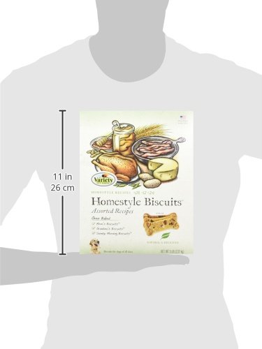 Variety Homestyle Assorted Recipes Baked Dog Biscuits (1 Pack), 5 lb Box, Natural
