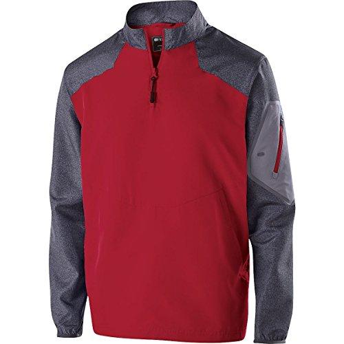 Zip Windbreaker (Holloway Sportswear Raider Pullover Windbreaker. 229155 Carbon Print / Scarlet 4XL)