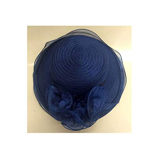 Womens Summer Sun Hat Retro Network Shamao Cap Organza ...