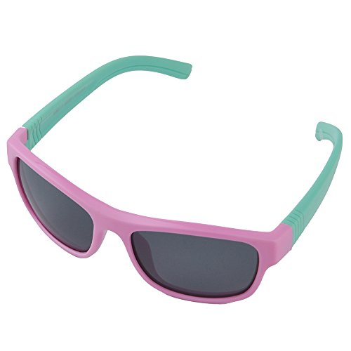 Br'Guras Kids Sunglasses with 100% UV400 Protection Lens, Sport Sunglasses for Kids Age 3-12, Kids Polarized Sunglasses for Driving Baseball Running Cycling Fishing, Pink & - 11 7 Sunglasses