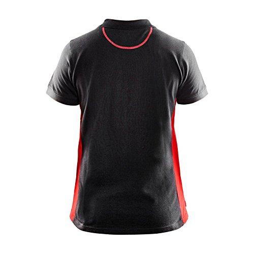 Blaklader 339010509956XL Women Polo Shirt Black//Red X-Large