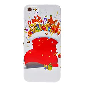 iPhone 5S Case, WKell Christmas Series Santa Boot Pattern Hard Case for iPhone 5/5S