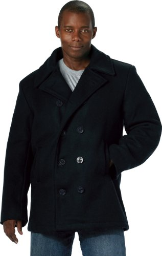 U.S. Navy Type Peacoat - Navy (SML) (Us Navy Style Mens Peacoat)