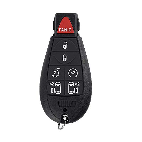 7 Button Replacement Car Key Fob Keyless Entry Remote M3N5WY783X IYZ-C01C for 2008-2015 Chrysler Town and Country,2008-2014 Dodge Grand Caravan