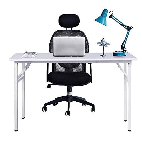 Need Mesa Plegable 120x60cm Mesa de Ordenador Escritorio de Oficina Mesa de Estudio Puesto de Trabajo Mesas de Recepcion Mesa de Formacion, Blanco