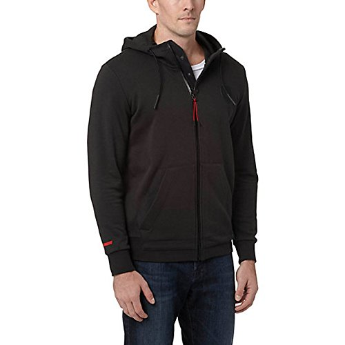 (PUMA Men's Ferrari Hooded Sweat Jacket, Moonless Night, Medium)