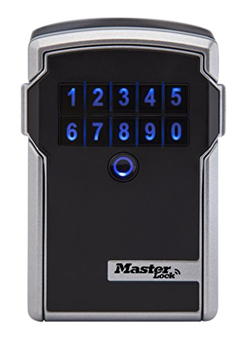 Master Lock Lock Box, Bluetooth Wall Mount Key Safe, 3-1/4-inch Wide, 5441D Electronic Key Locks