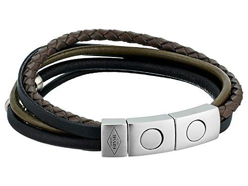 Fossil Gold Mens Bracelets - Fossil Men's Retro Pilot Multi-Strand Bangle Bracelet