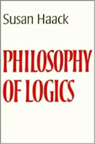 SUSAN HAACK PHILOSOPHY OF LOGICS PDF DOWNLOAD