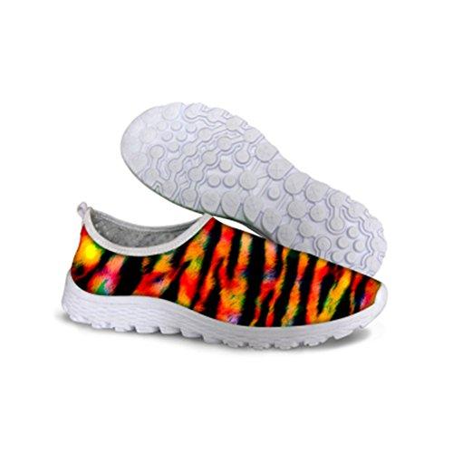 Sneakers Leopard Running Shoes FOR Mesh U Cool Print Breathable DESIGNS Grain Women's 3 Leopard xnFq0pBw