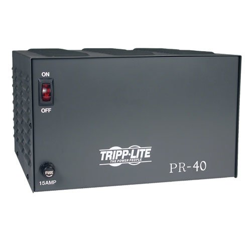 - Tripp Lite PR40 DC Power Supply 40A 120V AC Input to 13.8 DC Output TAA GSA