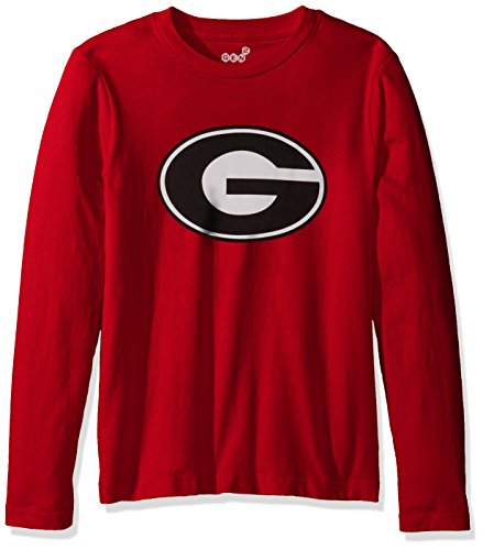 - Outerstuff NCAA Youth Boys Team Logo Long Sleeve Tee, Red, Small (8)