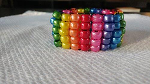 Rainbow Ladder Kandi Cuff Pride Kandi EDM Jewelry Kandi Trading