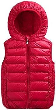 Boys Girls Down Vest Light Weight Coats Winter Warm Outwear 2-7 Years Vine