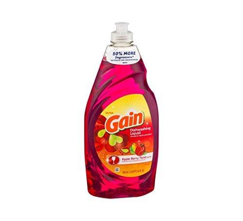 Gain Ultra Dishwashing Liquid, Apple Berry Twist - 24 Fl. Oz. - Berry Twist