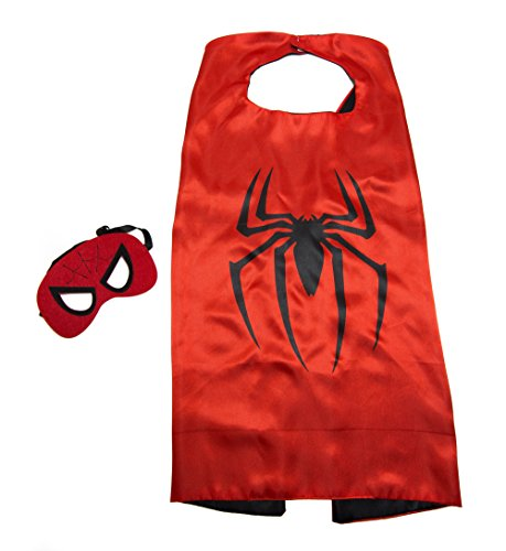 Spiderman Kids Cape and Mask Set (Spiderman Reversible Costume)