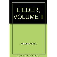 LIEDER, VOLUME II