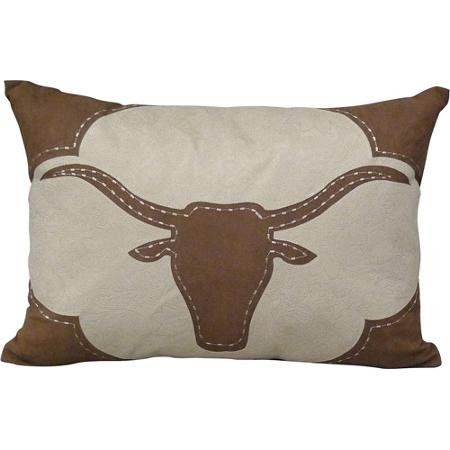 Suede Garden Pillow - Better Homes and Gardens Faux Suede Longhorn Decorative Pillow with Fringe, Chocolate