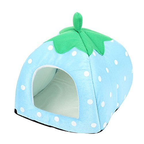 Water & Wood Dot Printed Traveling Pet Cat Dog Kennel Tent Nest House Sky Blue