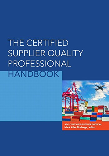 amazon com the certified supplier quality professional handbook
