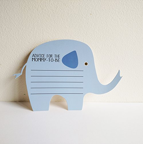 Elephant Advice Cards for Baby Boy Shower (24 Ct)]()