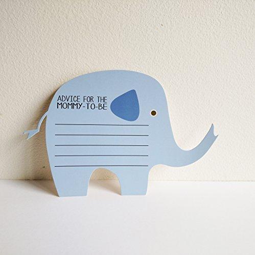 (Elephant Advice Cards for Baby Boy Shower (24)