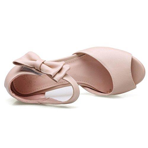 JOJONUNU Bloc Pink Talons Mode Sandales Femmes 7r7qC